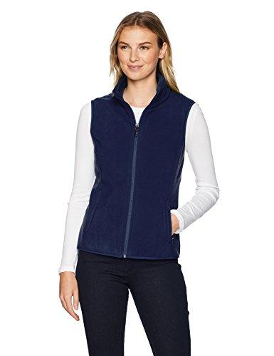 Amazon Essentials Women's Classic Fit Sleeveless Full-Zip Polar Soft Fleece Vest, Navy, Medium - PRTYA