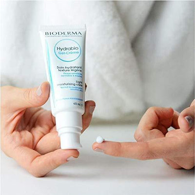 Bioderma - Hydrabio - Gel Cream - Face Moisturizer - Provides Radiance - for Normal to Combination Sensitive Skin