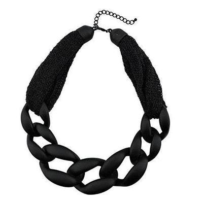 Statement Chunky Fashion Acrylic Paint Beads Choker Net Chain Necklace for Women Gifts (NK-10510)