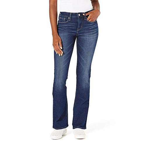 Signature by Levi Strauss & Co. Gold Label Women's Totally Shaping Bootcut Jeans, Blue Laguna, 16