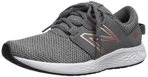 New Balance womens Fresh Foam Vero Racer V1 Running Shoe, Castlerock/Phantom/Rose Gold, 8.5 US