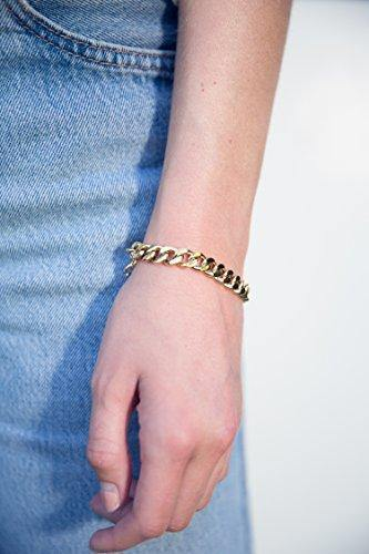 Gold Bracelets for Women - Chain Bracelet for Women Link Bracelet Gold Charm Bracelet Celeb-Approved Gold Chain Bracelets for Women