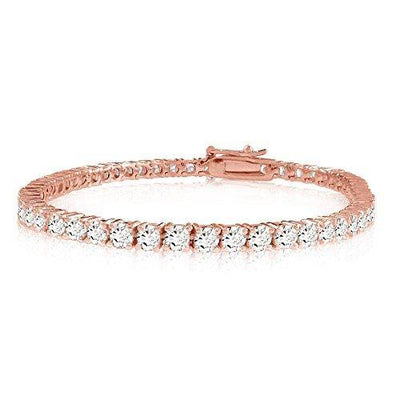2 Carat Classic Diamond Tennis Bracelet 14K Rose Gold Premium Collection