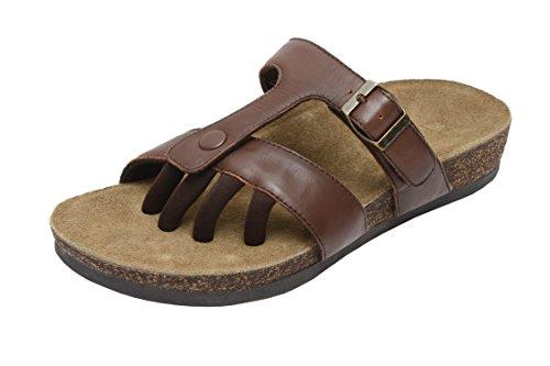 Wellrox Women's Santa Fee-Sedona Brown Casual Sandal 8 - PRTYA
