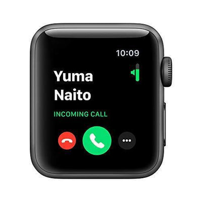 Apple Watch Series 3 (GPS, 38mm) - Space Gray Aluminum Case with Black Sport Band - PRTYA