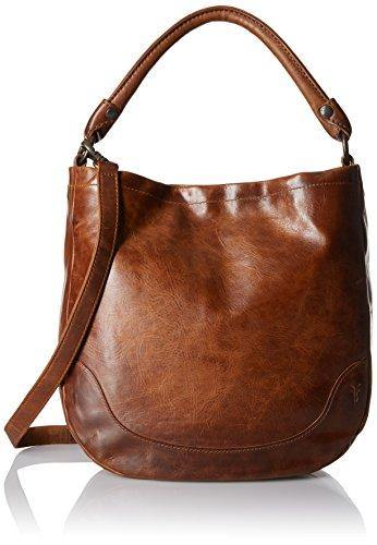 Frye Melissa Leather Hobo, Cognac, One Size