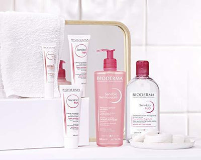 Bioderma Sensibio H2O Soothing Micellar Cleansing Water and Makeup Removing Solution for Sensitive Skin, Face and Eyes