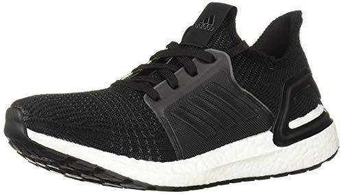 adidas Women's Ultraboost 19 Running Shoe, Black/Grey/Solar Orange, 10 M US