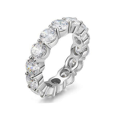 5.00mm 925 Sterling Silver Cubic Zirconia Fashion Ring - Eternity, Engagement, Wedding Band (6)