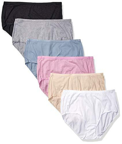 Hanes Women's Signature Breathe Cotton Brief 6-Pack, Assorted Colors, X Large (8)