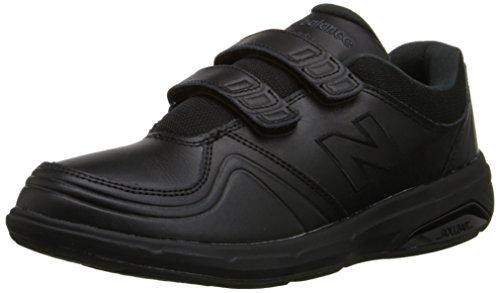 New Balance womens 813 V1 Hook and Loop Walking Shoe, Black, 10 Wide US