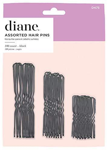 Diane Hair Pins Assorted Size, Black, 100/card