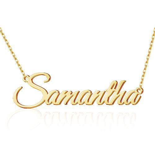 Custom Name Necklace Personalized 18K Gold Plated Nameplate Customized Jewelry Gift for Women