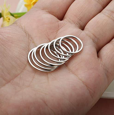 Fiasaso 8 Pcs 1mm Stainless Steel Stacking Rings Knuckle Rings Plain Rings Midi Rings Comfort Fit Size 2 to 9 Silver Tone