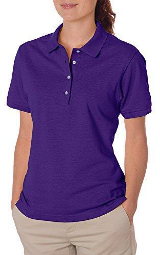 Jerzees Jersey Polo Shirt with Spotshield, M, Deep Purple