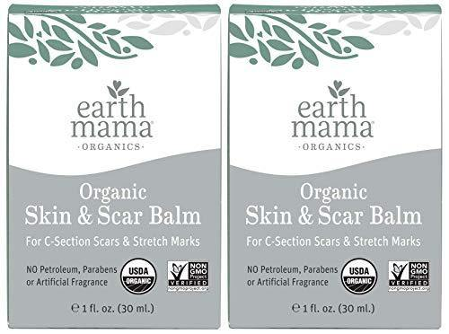 Organic Skin And Scar Balm by Earth Mama Reduces the Discomfort and Appearance of C-Section Scars and Pregnancy Stretch Marks, 1-Fluid Ounce (2-Pack)