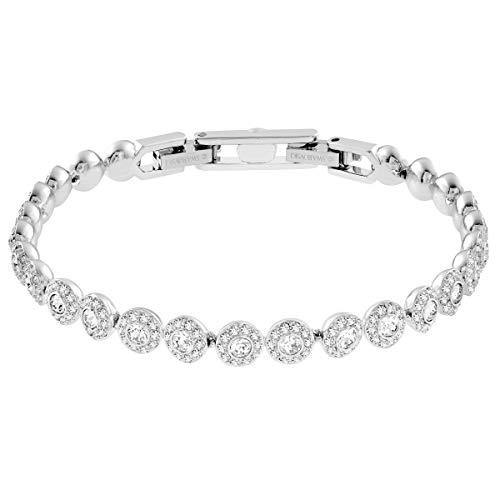 SWAROVSKI Women's Angelic Bracelet, White, Rhodium Plated