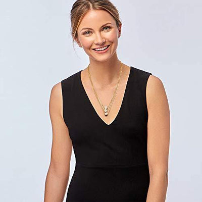 Ross-Simons 9-9.5mm Cultured Pearl 3-Strand Layered Necklace in 18kt Gold Over Sterling