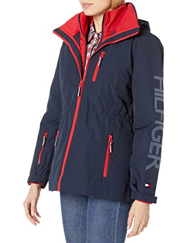Tommy Hilfiger Women's 3 in 1 Systems Jacket, Navy, M