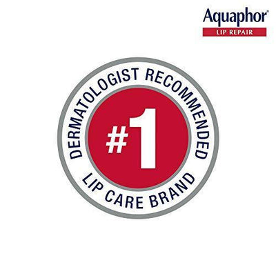 Aquaphor Lip Repair Ointment - Long-lasting Moisture to Soothe Dry Chapped Lips Tube, 0.35 Fl Oz (Pack of 1)