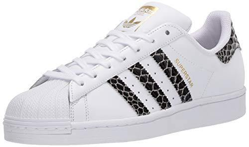 adidas Originals Women's Superstar Sneaker, White/Black/Gold Metallic, 5