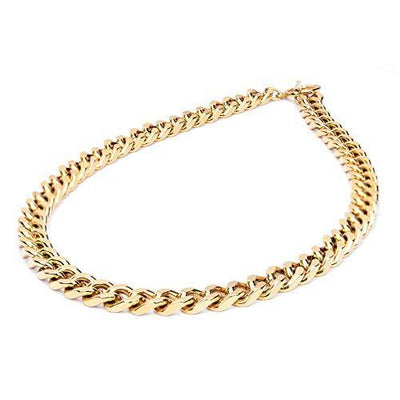 2020 NEW 18K Gold Plated Dainty Paperclip Link Chunky Chain Necklace Stainless Steel Oval Rectangle Cuban Link Choker for Women Girls