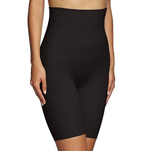 Maidenform Women's Flexees Shapewear Hi Waist Thigh Slimmer, Black, Medium