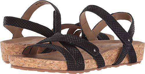 Walking Cradles Pool Black Matte Snake Print/Cork Wrap 9 W (D) - PRTYA