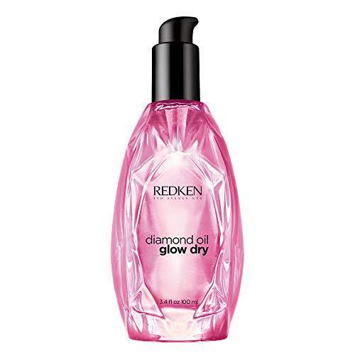 Redken Diamond Oil Glow Dry | For All Hair Types | Style Enhancing Oil Adds Shine & Protects From Heat Damage | 3.4 Fl Oz
