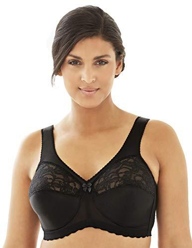 Glamorise womens Full Figure Plus Size MagicLift Original Wirefree Support Bra #1000, Black, 36F