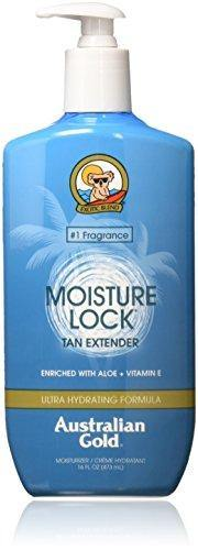 Australian Gold Moisture Lock Tan Extender Moisturizer Lotion, 16 Ounce | Enriched with Aloe & Vitamin E
