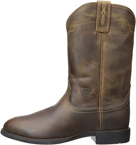 Ariat Women's Heritage Roper Western Cowboy Boot, Distressed Brown, 9 B US