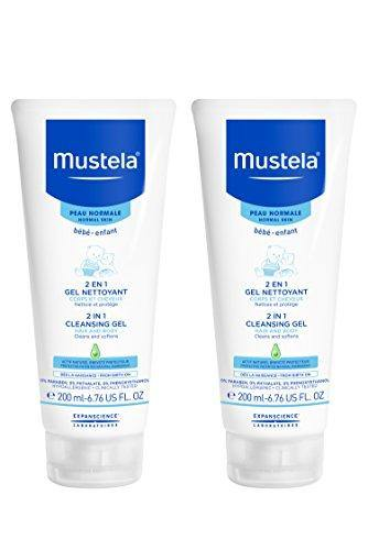 Mustela 2 in 1 Cleansing Gel Baby Shampoo and Body Wash, 2 Count