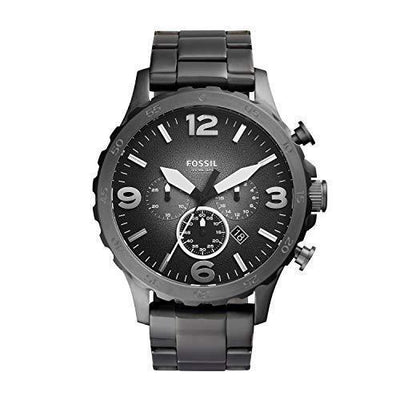 Fossil Men's Nate analog-quartz Watch with Stainless Steel Strap, Gunmetal, 24 (Model:
