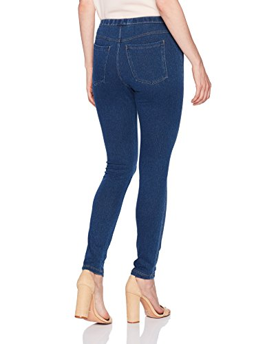 No nonsense Women's Classic Indigo Jean Leggings, Medium Wash Denim, Large