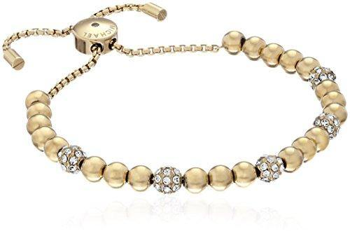 Michael Kors Blush Rush Gold-Tone Bead Bangle Bracelet