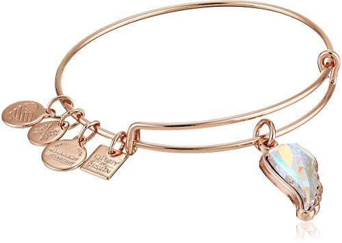 Alex and Ani Crystal Wing EWB Cuff Bracelet, Shiny Rose, Expandable