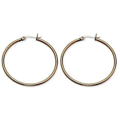 Stainless Steel Brown Plated 40mm Hoop Earrings Ear Hoops Set Fashion Jewelry For Women Gifts For Her