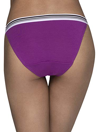 Fruit of the Loom Women's Underwear Soft and Comfy Panties, High Leg Bikini - Modal - Assorted Color, 9