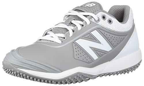 New Balance Women's Fuse V2 Turf Softball Shoe, Grey/White, 8.5 M US