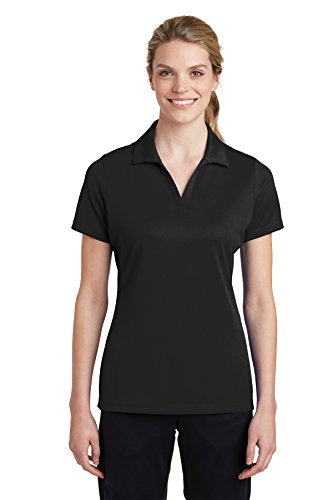 Sport-Tek LST640 Polo, Black, Medium
