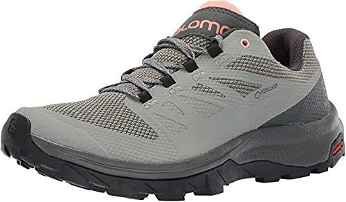 Salomon Women's OUTline GTX W Hiking Shoes, Shadow/Urban Chic/Coral Almond, 9
