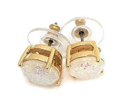 Kate Spade Glitter Round Opaque Earrings