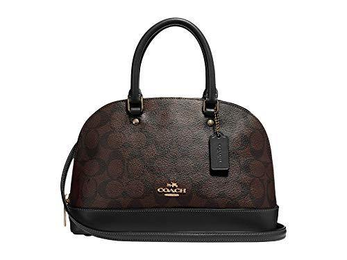 COACH Signature Messico Mini Sierra Satchel Brown/Black One Size