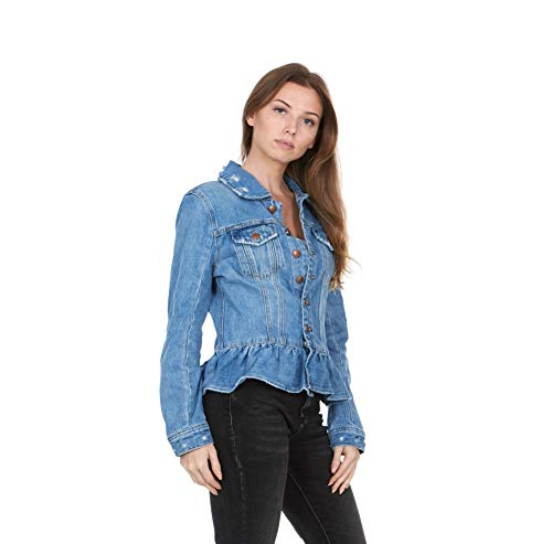 SILENT NEW YORK Women's Medium Wash Denim Trucket Jacket