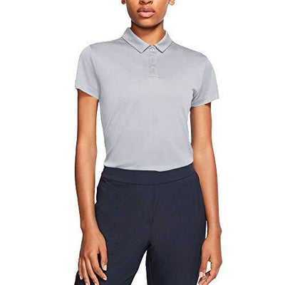 Nike Women's Dry Polo Short Sleeve, Pure Platinum/Pure Platinum, Medium - PRTYA