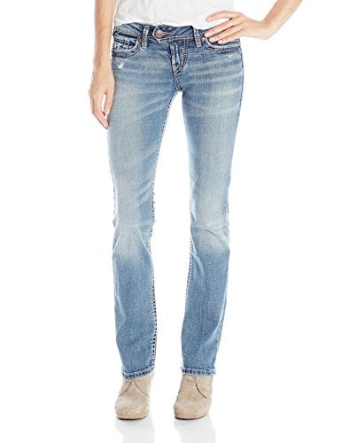 Silver Jeans Women's Tuesday Low Rise Slim Bootcut Jean, Indigo, 29x33