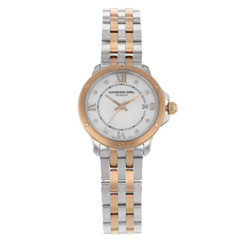 Raymond Weil Tango Mother of Pearl Diamond Dial Two Tone Stainless Steel Ladies Watch 5391-SP5-00995