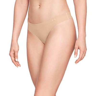 Under Armour Women's Pure Stretch Thong Multi-Pack , Nude (295)/Nude , Small