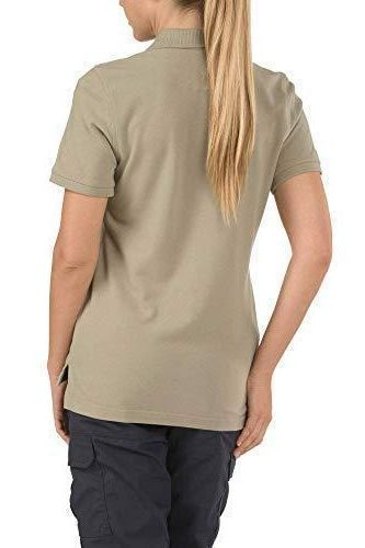 5.11 Women's Performance Polo Short Sleeve Tactical Shirt, Style 61166, Silver Tan, M - PRTYA